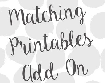 Matching Party Printables