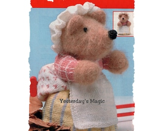 Instant Download PDF KNITTING PATTERN to make Mrs Tiggywinkle Hedgehog Soft Stuffed Cuddly Dressed Toy 8 Inches Tall 3 Ply Yarn