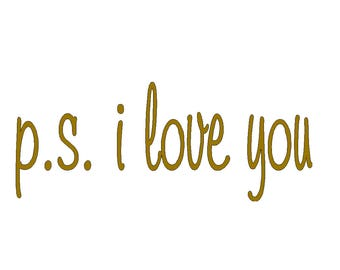 PS i love you decal 10 x 4