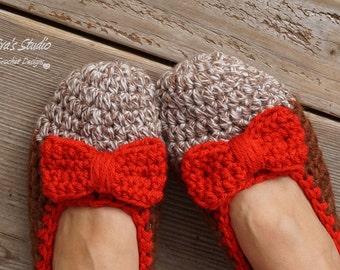 Slippers Crochet Pattern, PDF,Easy, Great for Beginners, Shoes Crochet Pattern Slippers,  Pattern No. 12