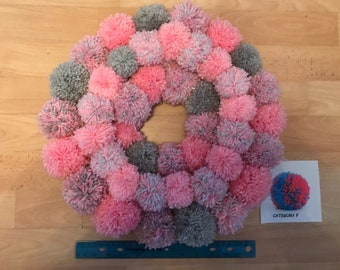 Large Bespoke Pom Pom Wreath