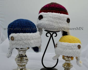 Crochet Aviator Hat-BABY