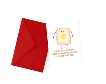 Butter Dad Pun Card