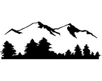 Mountain Range Vinyl Decal