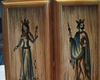 Vintage Gothic King And Queen Plaques Karen Kuykendall Royal Home Decor Medieval