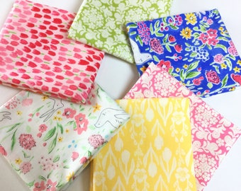 6 FQ Tulip Garden Bundle - Sommer Collection by Sarah Jane, Strawberry by Tamara Kate for Michael Miller Fabrics Collection, Cotton Quilt