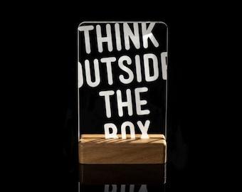 Think outside the box, light home decor art lamp