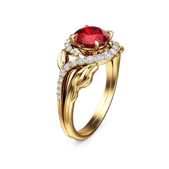 Ruby Promise Rings For Her