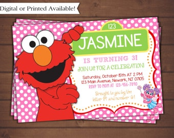 Elmo Birthday Invitation