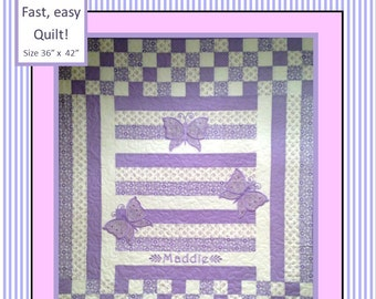 EASY Butterfly Baby Quilt Pattern