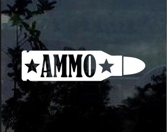 Ammo Bullet Vinyl Window Decal Sticker
