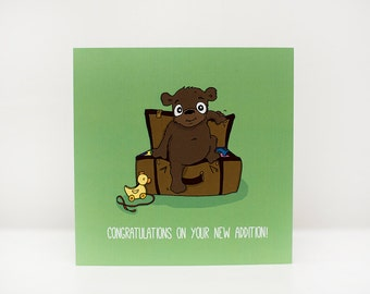 Adoption Card, New Baby Card, New Addition Card, Baby Shower Card, Christening Card.