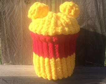 Winnie the Pooh wide mouth mason jar cover with removable lid .