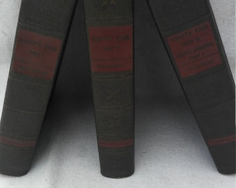 1935 publishing of Vanity Fair in 3 volumes by William makepeace Thackeray