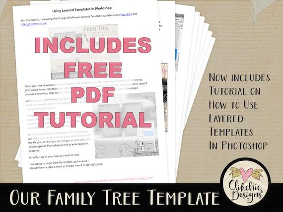 Family Tree Scrapbook Templates Urgup Kapook Co