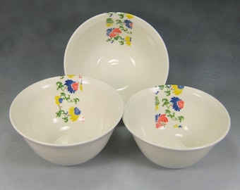 Bowl Yellow Red Blue and White Fine China Porcelain Serving Bowl Set Hand Thrown Translucent Ceramic Nesting Bowls Pottery Mixing Bowls 3