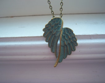 Wing Necklace - Double Wing Necklace - Angel Wing Necklace