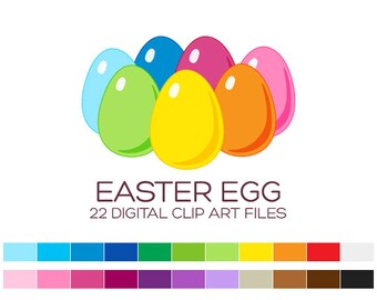Easter Eggs Clipart Easter Planner Stickers Easter Clipart Holiday Clipart Chicken Clipart Farm Clipart Rainbow Clipart Easter Cards- A50003