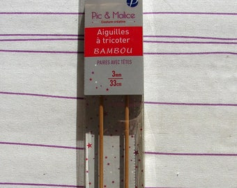 Knitting needle spike & 3mm bamboo Malice