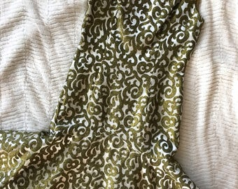 Silk Shantung Vintage Shift Dress