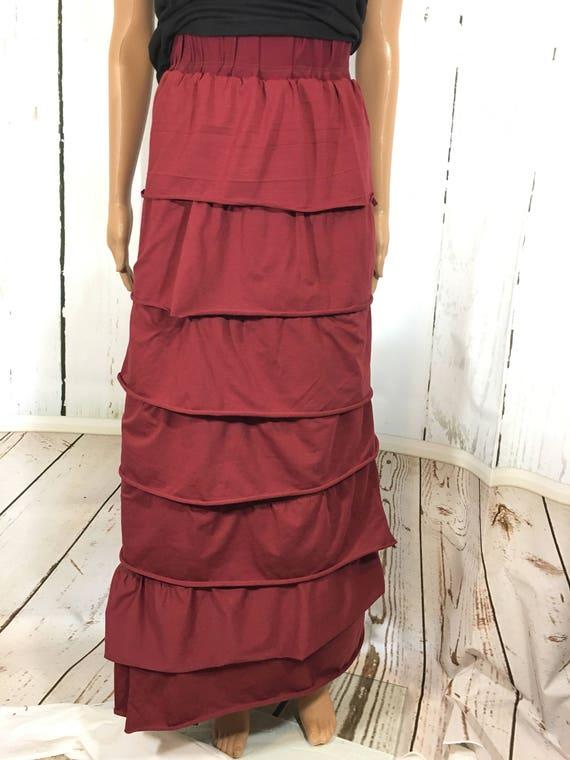 Ruffle Skirt - Custom - Custom full length Ruffle Skirt - wide Elastic   in Knit