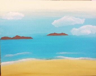 Calm Seascape Acrylic Painting 8x10