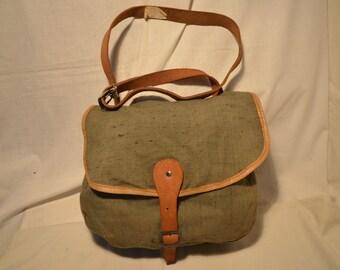 Vintage 1980's Green Canvas Hunting Bag - Shoulder Bag - NEW