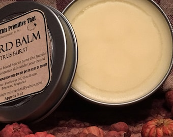 Citrus Burst Beard Balm/ Moisturizing/ Country This Primitive That