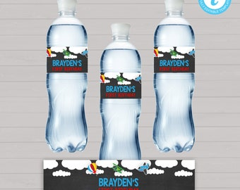 Automobiles Birthday, Automobiles Party, Trains Planes, Airplane Birthday, Water Bottle Labels, Editable Water Bottle, Instant Download