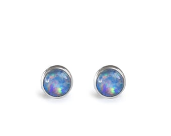 Small 4mm Stud Earrings Sterling Silver (Stone Options)