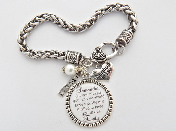 Daughter In Law Bracelet Bride Gift from Mom CHARM BRACELET