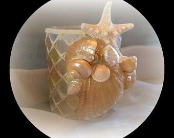 Golden Sunsets seashell vase