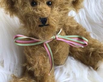 OOAK, traditional artist teddy bear, handmade in UK, from German mohair