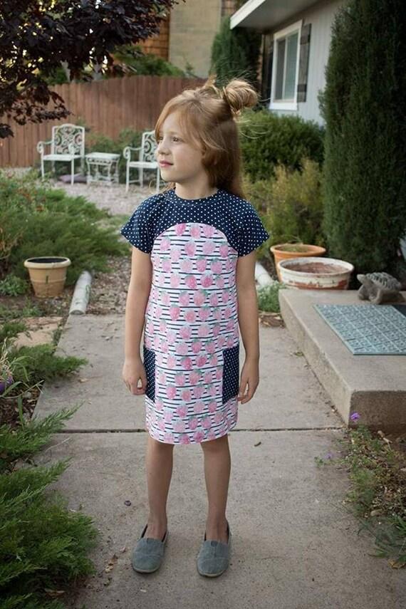 Tulipa Dolman 12-8 PDF sewing pattern girls knit sewing