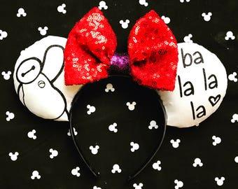 Baymax Mouse Ears, custom ears, Minnie Mouse ears, big hero six ears