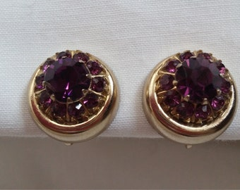 Vintage Coro Rhinestone earrings