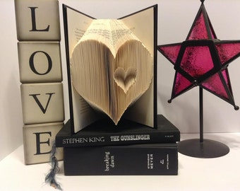 Heart Folded Book Art