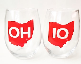 OH-IO pair of 2 glasses