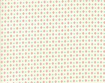 Handmade Spots Multi Cream by Bonnie and Camille for Moda, 1/2 yard cotton fabric