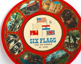Vintage Six Flags Over Mid-America St. Louis Collectors Plate Souvenir