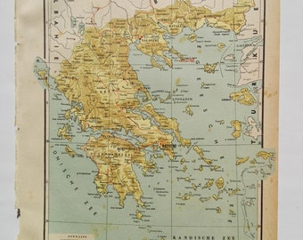 1940's Map of Greece