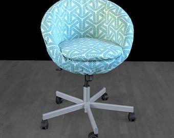 Blue Nautical Rope Print IKEA SKRUVSTA Chair Cover