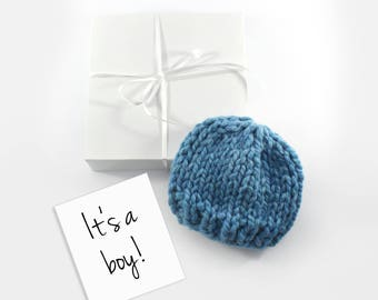 Gender Reveal Announcement, Pregnancy Announce, Baby Boy Reveal, Grandparent Baby Gift