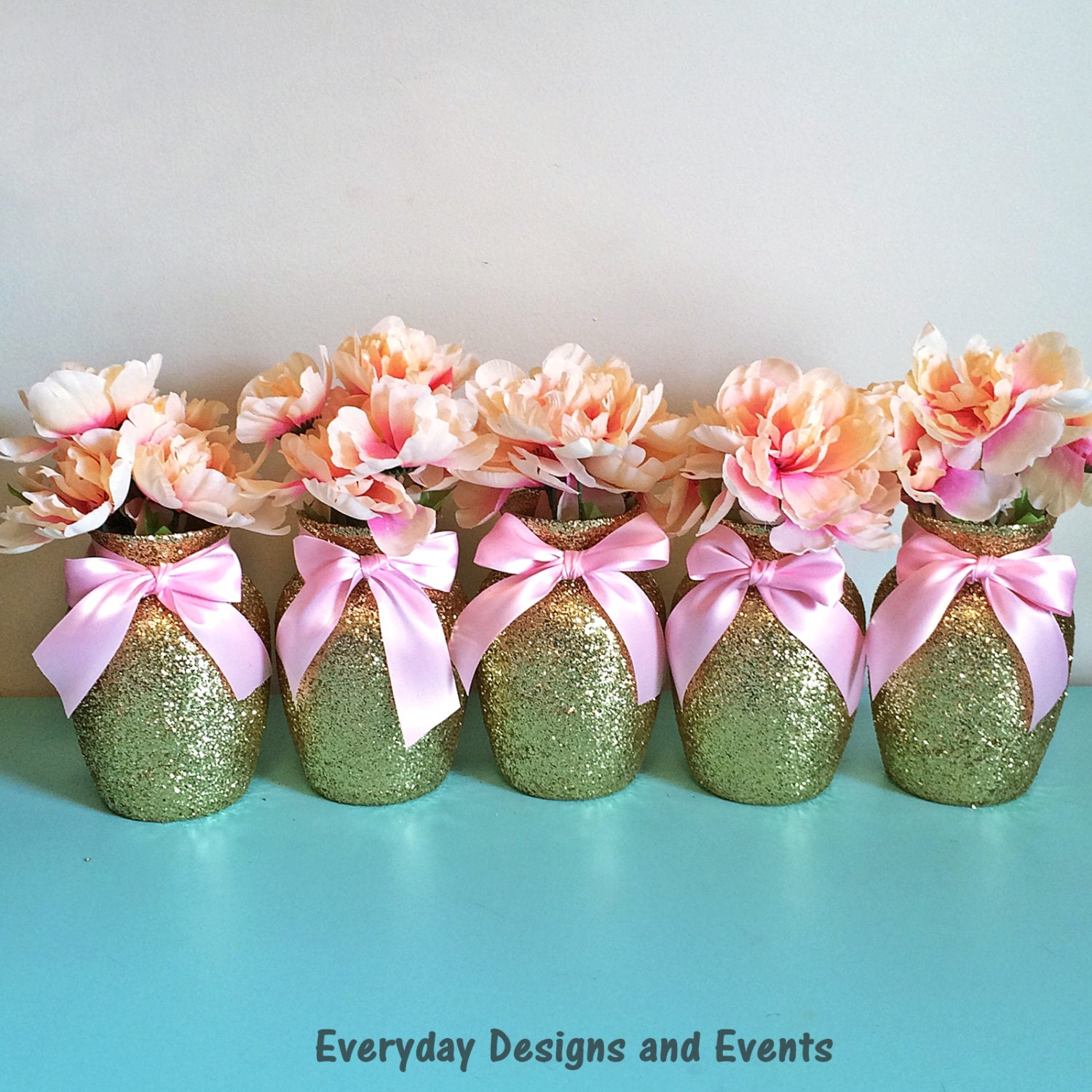5 gold pink vases baby shower decorations baby shower zoom reviewsmspy