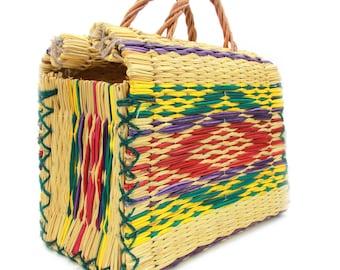 Handmade Wicker Picnic Style Handbag - 4 Sizes Available