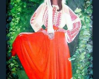 Ali Mcgraw - Hippie - Orignial Oil Painting -  16 x 20 inches