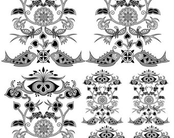 Design Elements 17 - Glass Decal, Ceramic Decal - Fusible Glass Decal       1893122