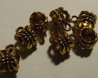 metal bail, aged gold bail, jewelery creation, set of 5 bailers