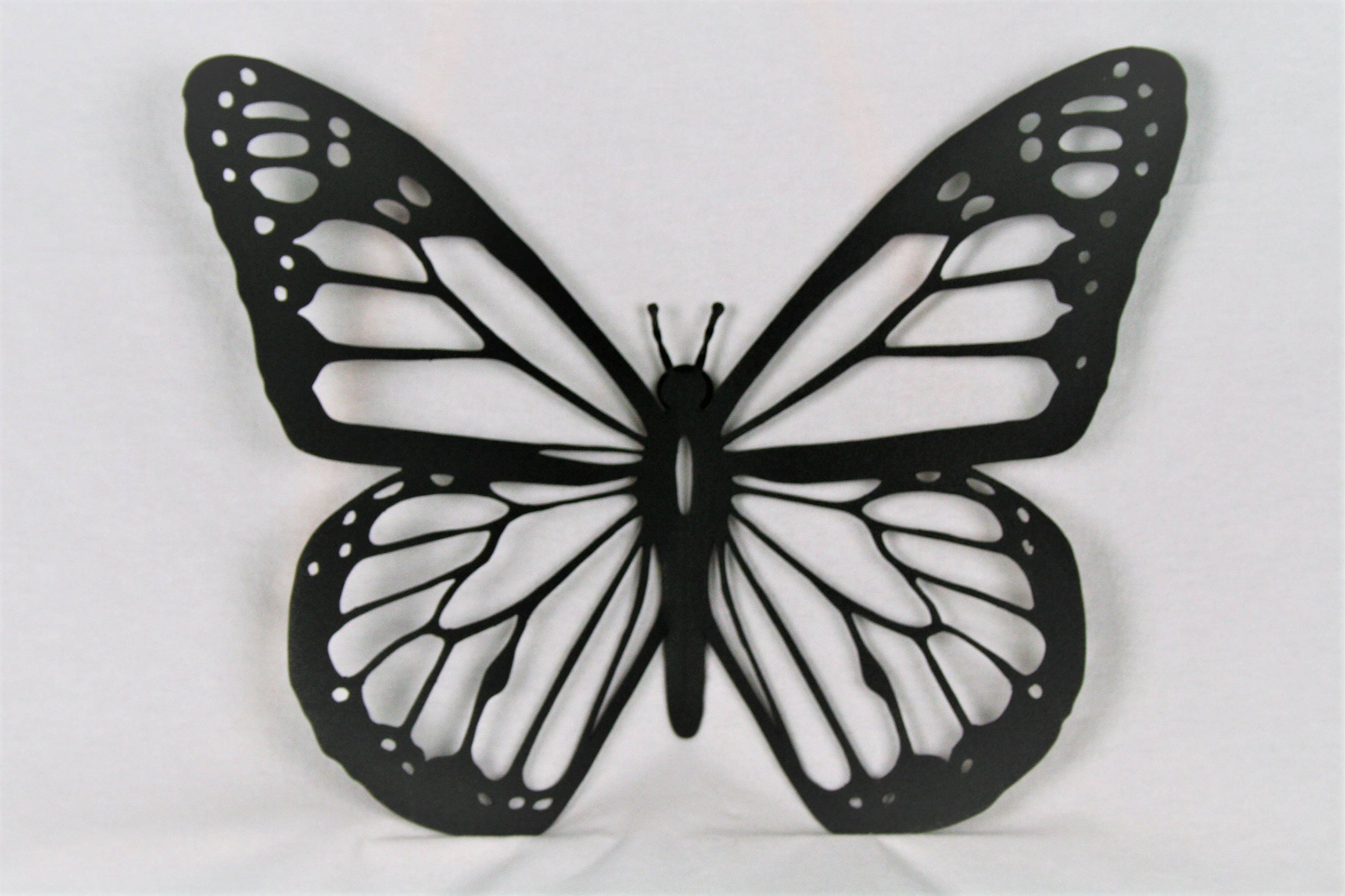 black metal monarch butterfly wall art metal butterfly. Black Bedroom Furniture Sets. Home Design Ideas