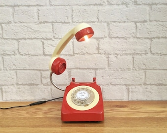 Retro Home Decor, Retro Home, Retro Decor, Vintage Home Decor, Retro Office Decor, Desk Lamp, Vintage Lamp, Vintage Telephone, Retro Gifts